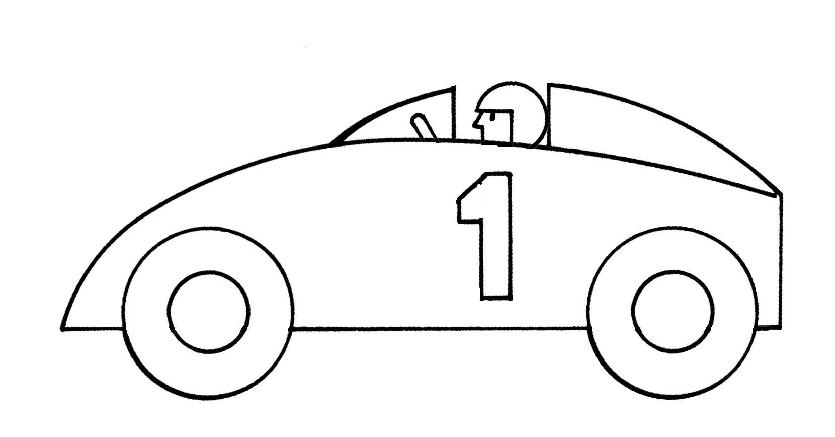 Black And White Cars Clipart.