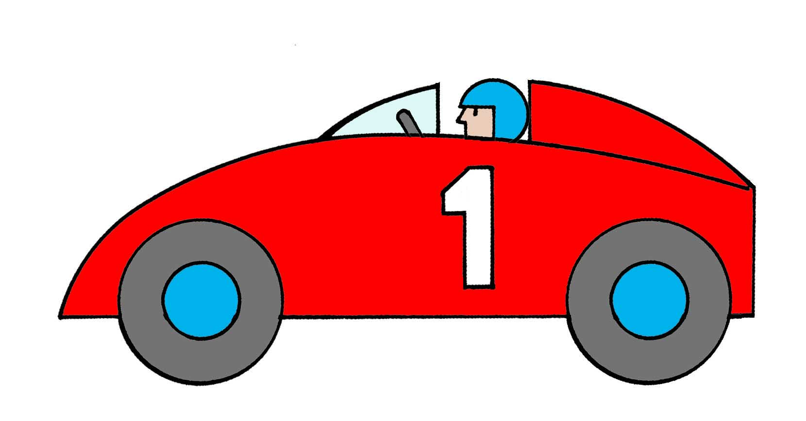1 Race Car Clipart.