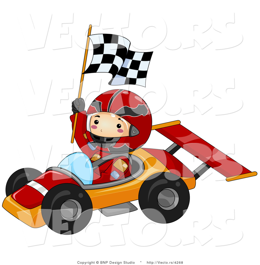 Race Car Driver Clipart.