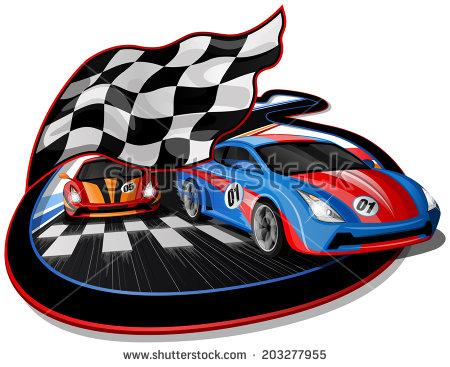race car finish line clipart #8