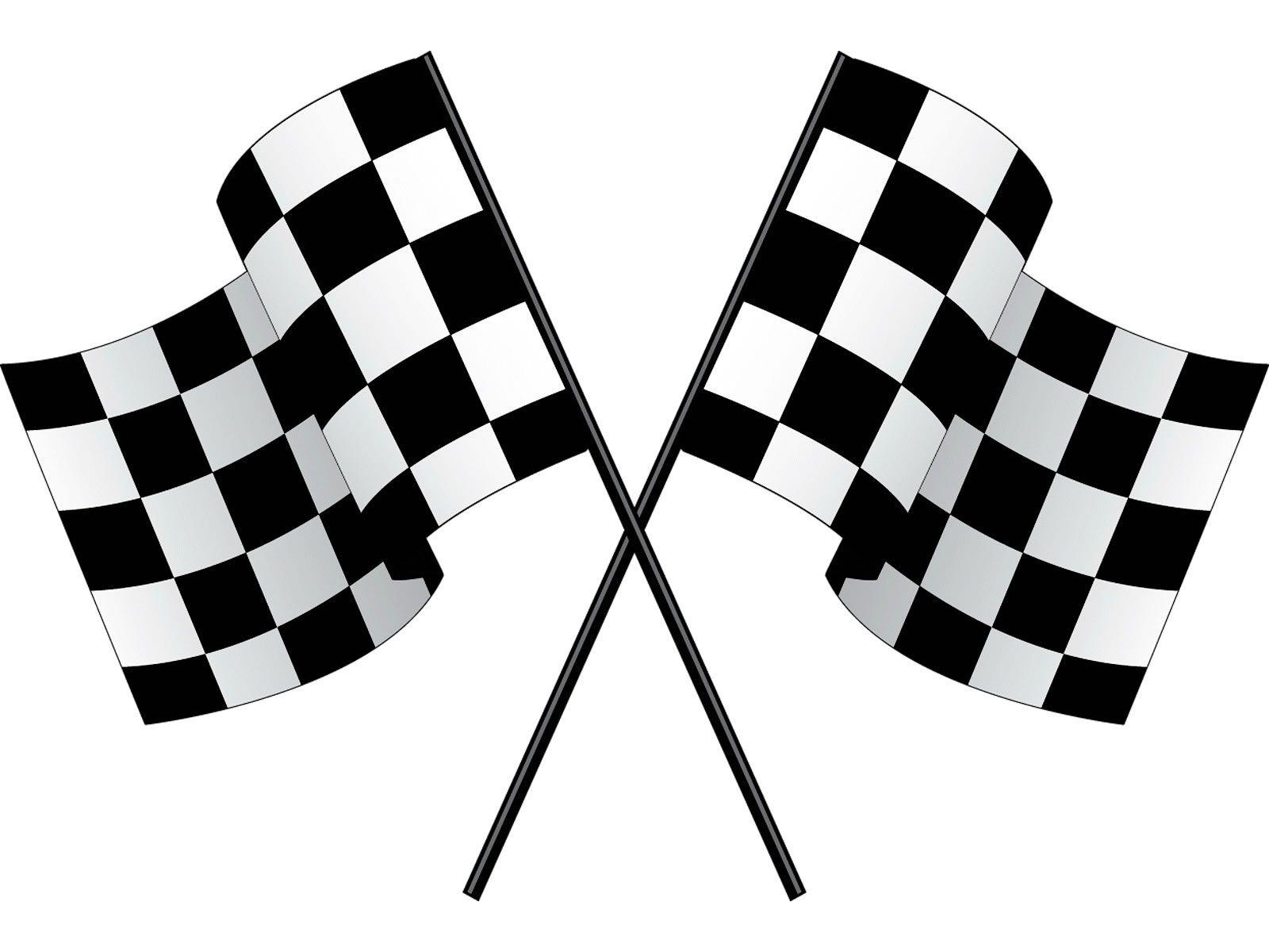 Racing Flags Clip Art.