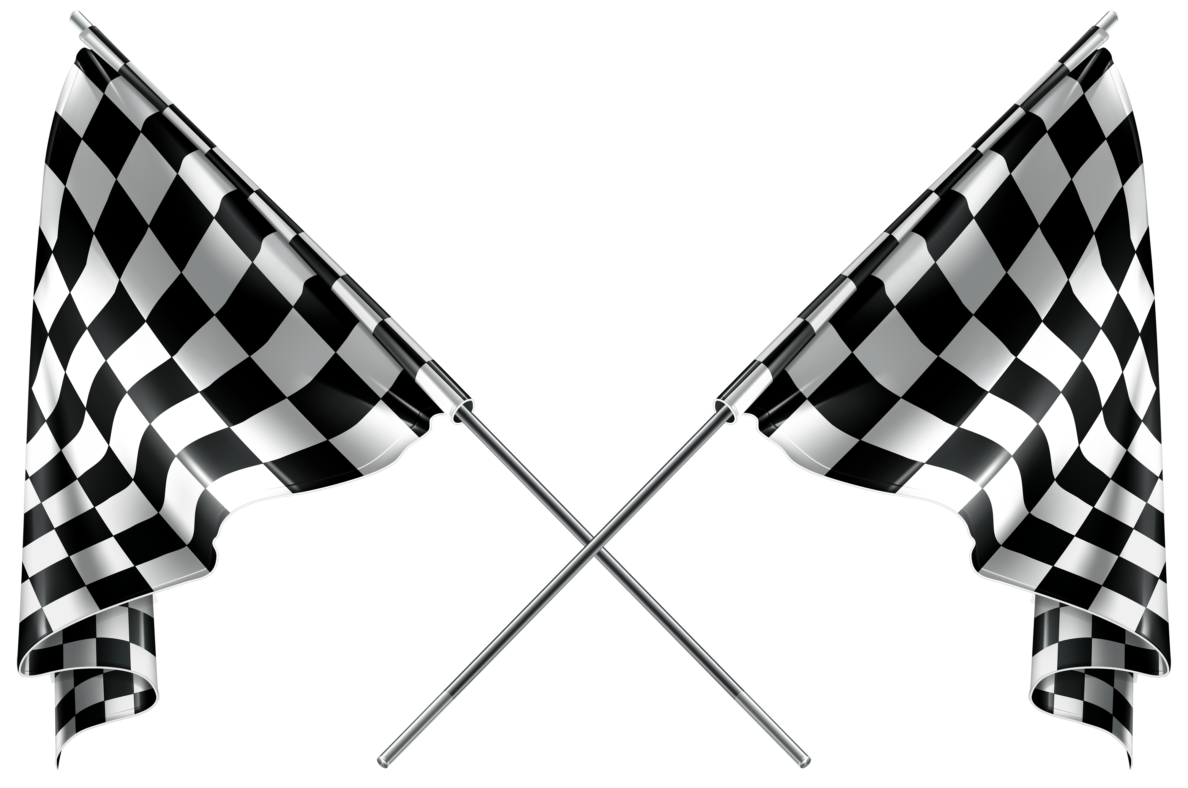 Checkered Flags PNG Clipart.