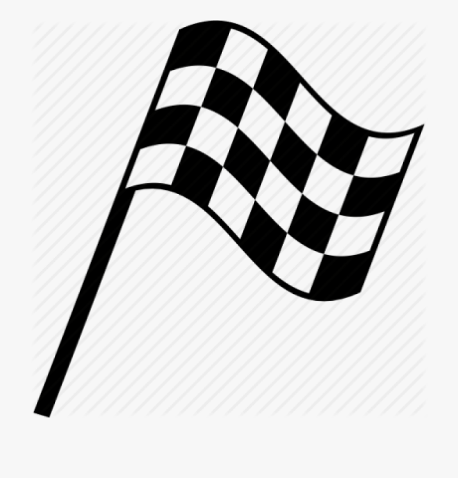 Checkered Drawing Race Flag.
