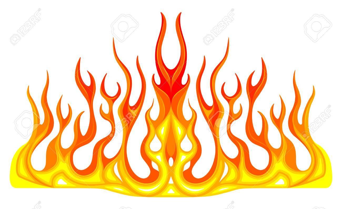 Race car flames clipart 1 » Clipart Portal.
