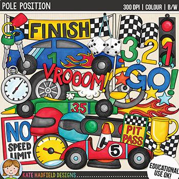 Racing Car Clip Art: \