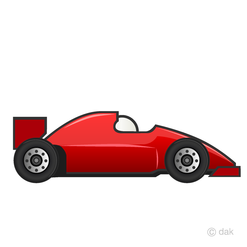Free Red Racing Car Clipart Image|Illustoon.