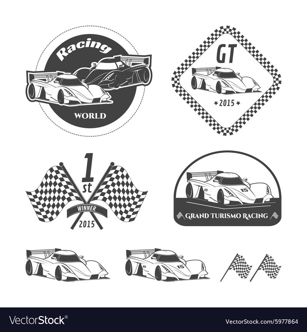 Race car emblems.