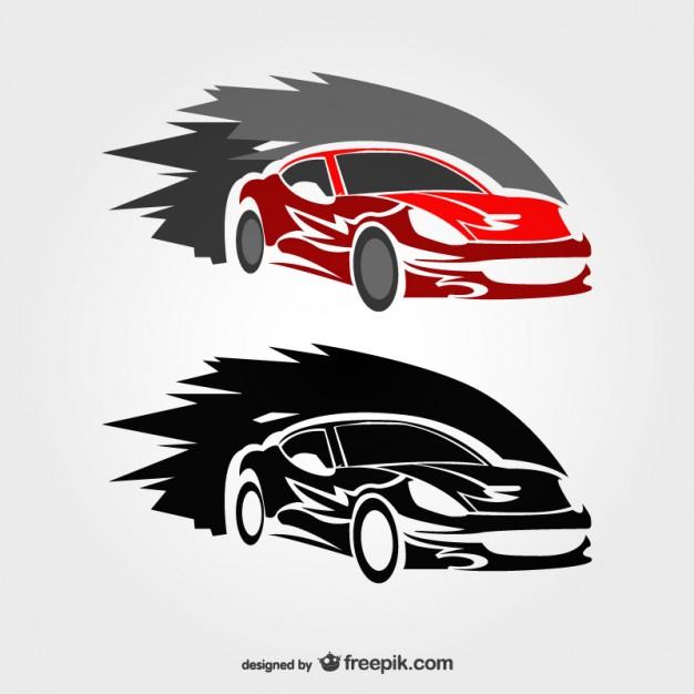 Fast race car logos Vector.