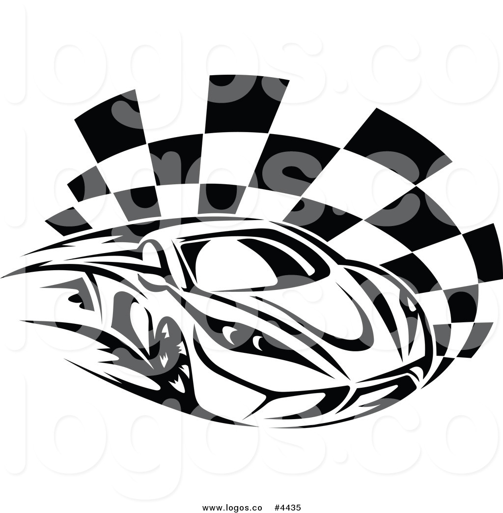 Royalty Free Race Car Logo by Vector Tradition SM.