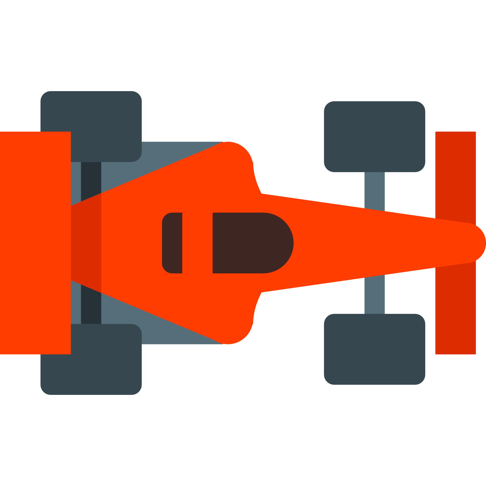 F1 Race Car Top Veiw Icon.