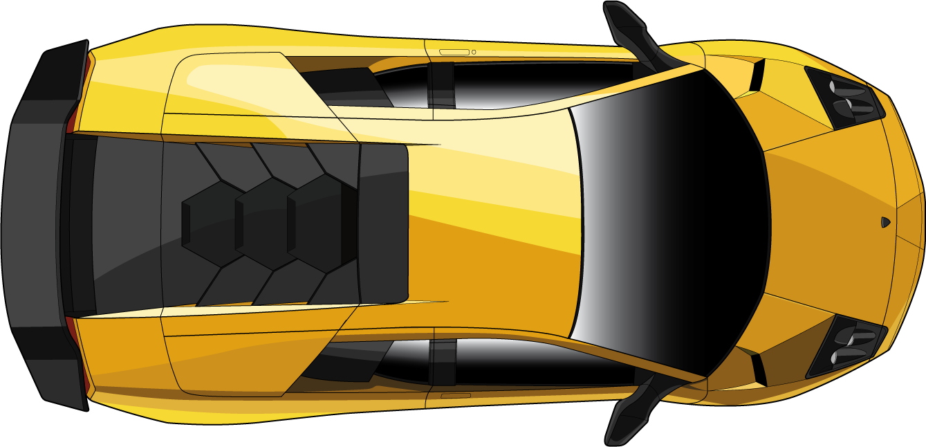 Race car top view.