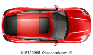 Car Clipart Top Down View.