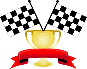 Race Car Trophy.