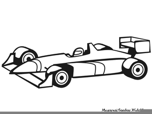 Roary Racing Car Clipart.