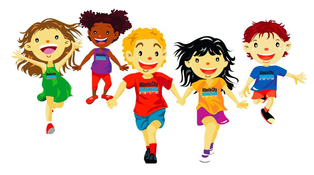 Kids Sports Clipart Running Race.