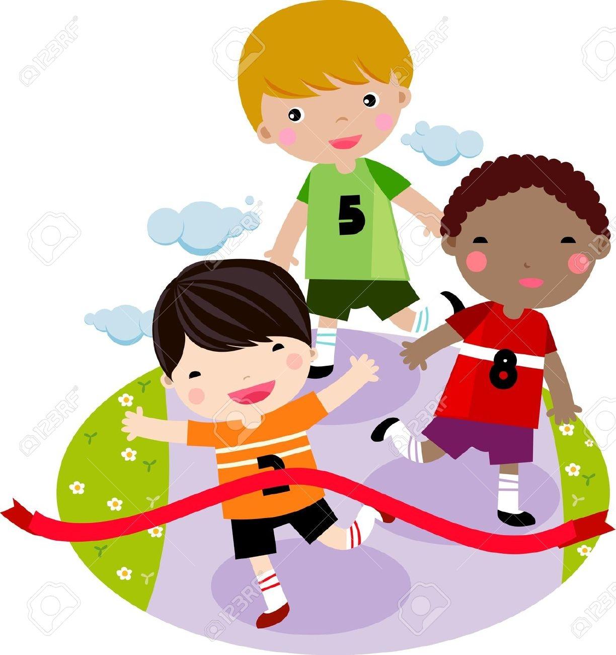 Free kids race clipart.