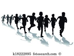 Foot race Clip Art and Illustration. 349 foot race clipart vector.