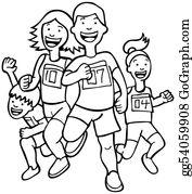 Running Race Clip Art.