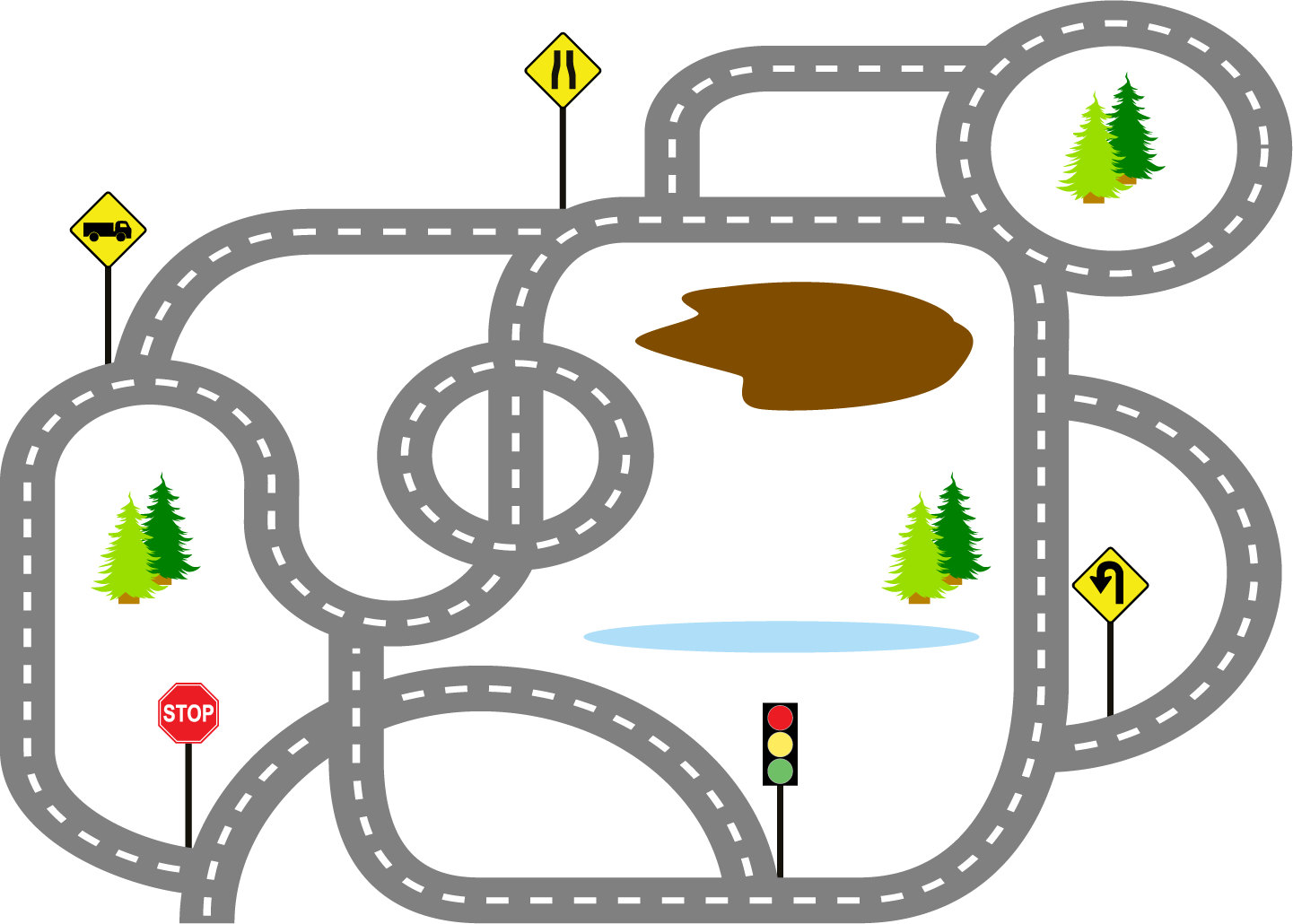 Car race track clipart.