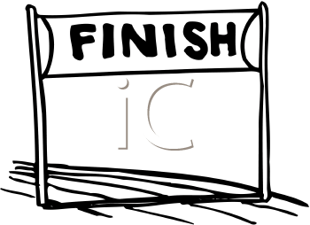 Collection of Finish line clipart.