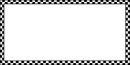 Worldlabel Border Bw Checkered X clip art free vector.