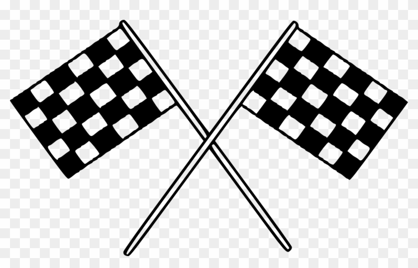 Flags Checkered Finish Racing Png Image.