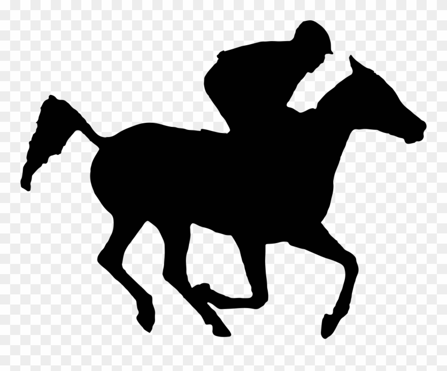 Exciting Race Horse Silhouette Clipart Arabian Racehorse.