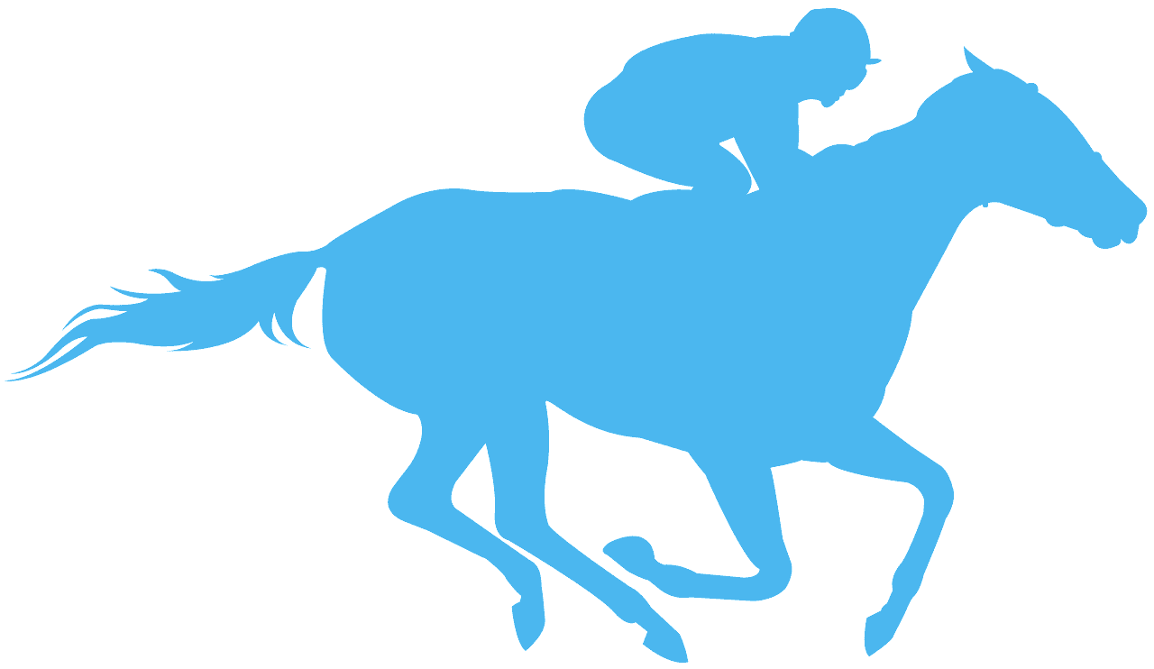 Race Horse silhouette.