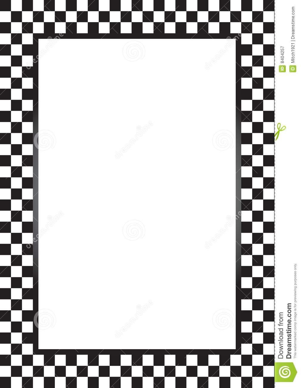 Race Car Border.