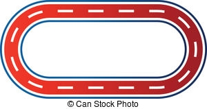 Oval race track clipart.