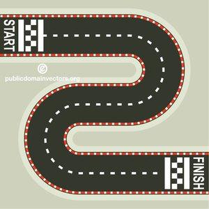 315 race track clip art.