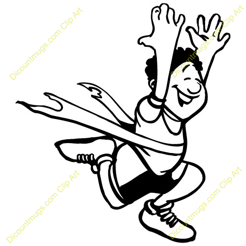 Person Winning Race Clipart.