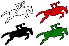 Icons Racecourse Stock Illustrations.