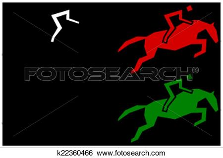 Clip Art of icons for racecourse k22360466.