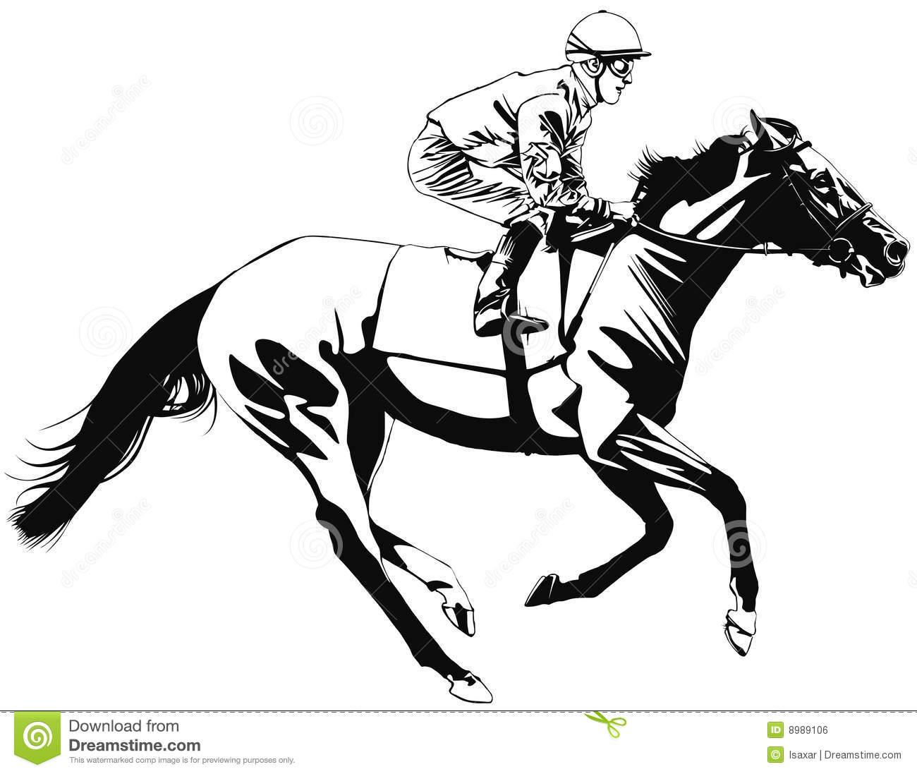 Horse And Jockey Clipart.