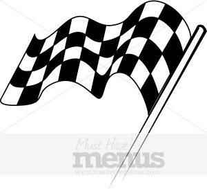 chevkered flag clipart #6