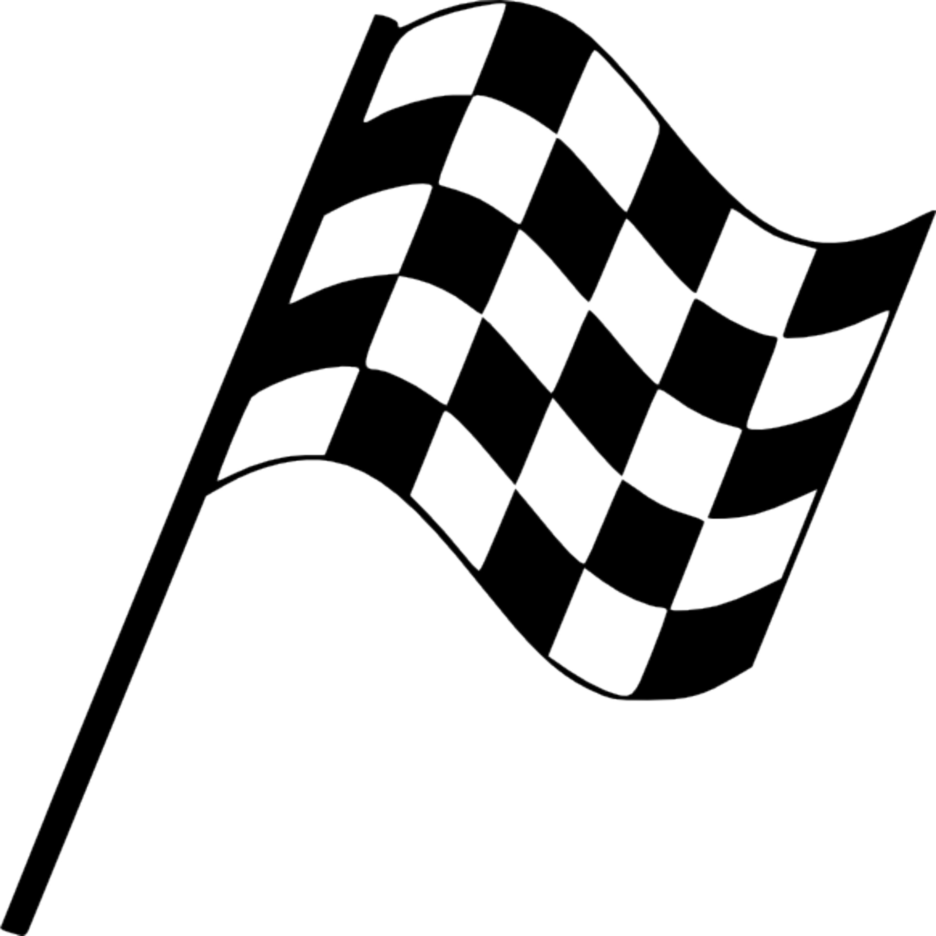 Black And White Racing Flag Clipart.