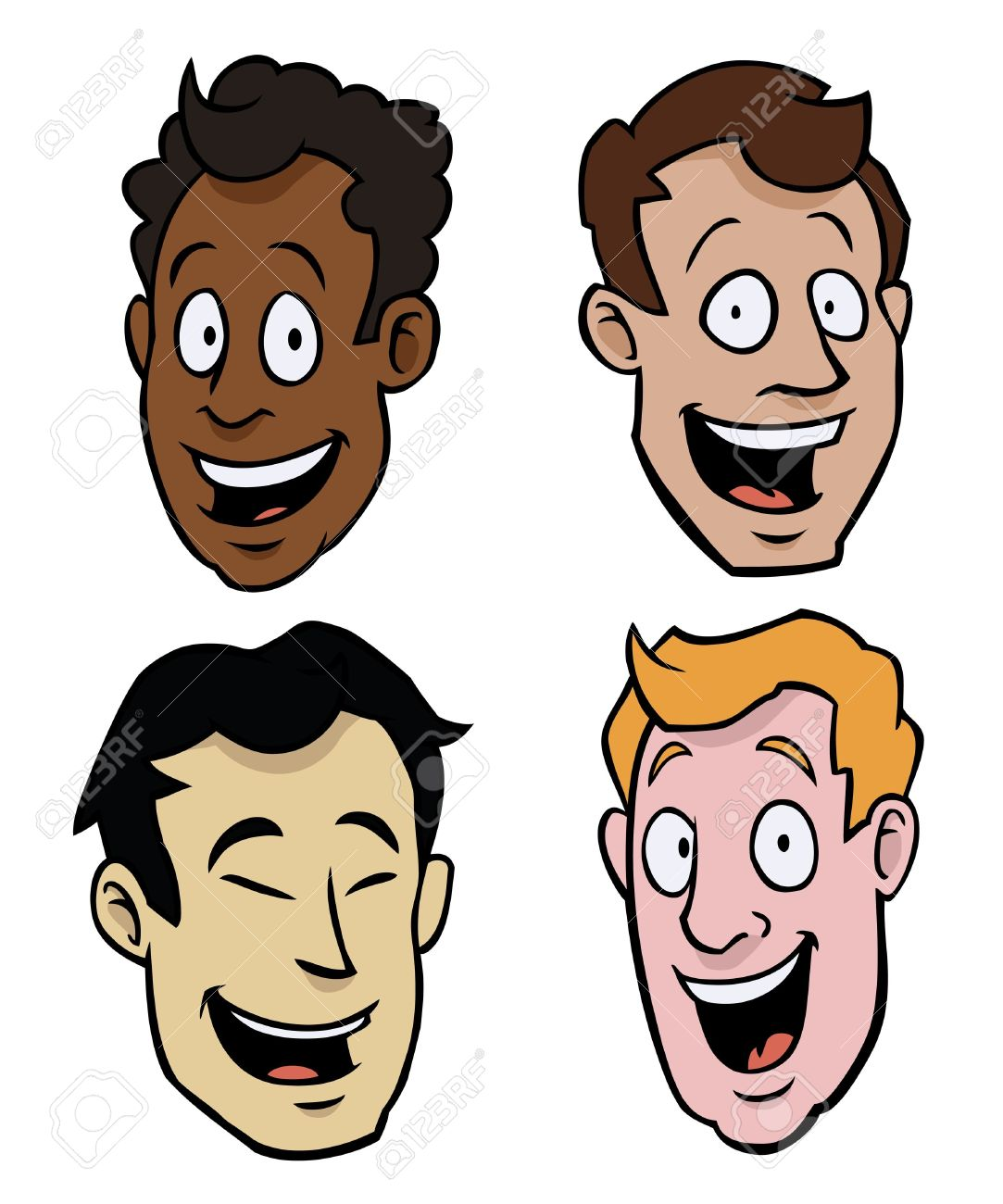 Clipart Different Races.