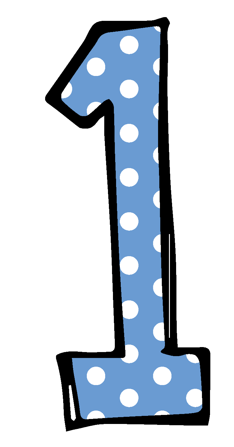 Cute Number 1 Clipart.