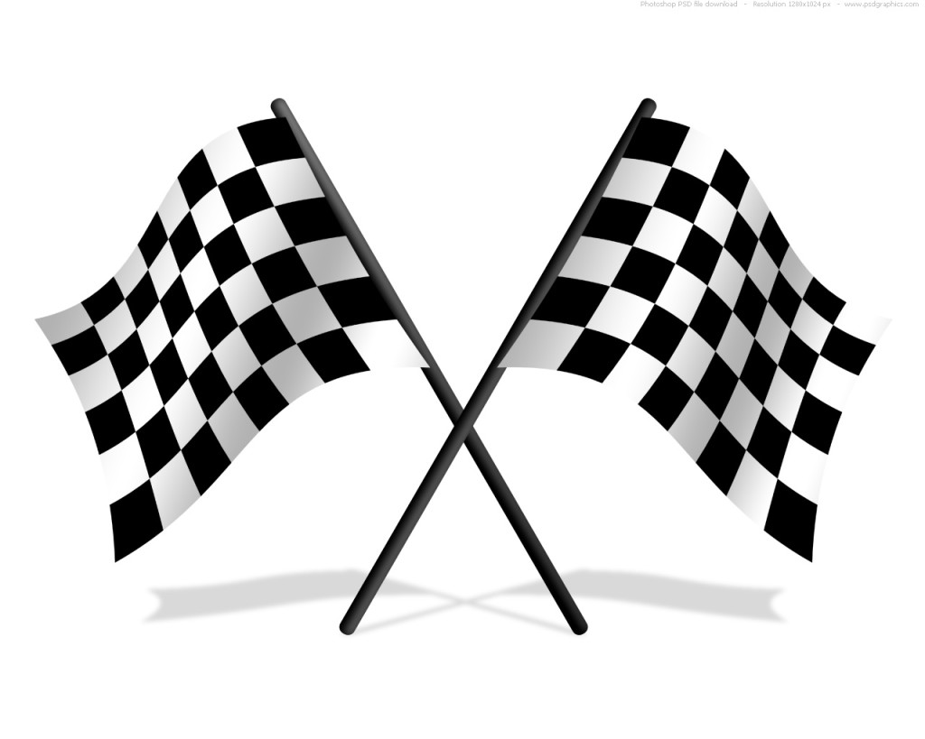 Racetrack Number 1 Clipart.