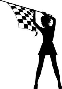 Clip Checkered Racing Flag.