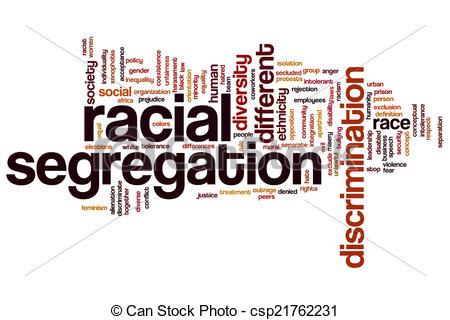 Racial segregation clipart.