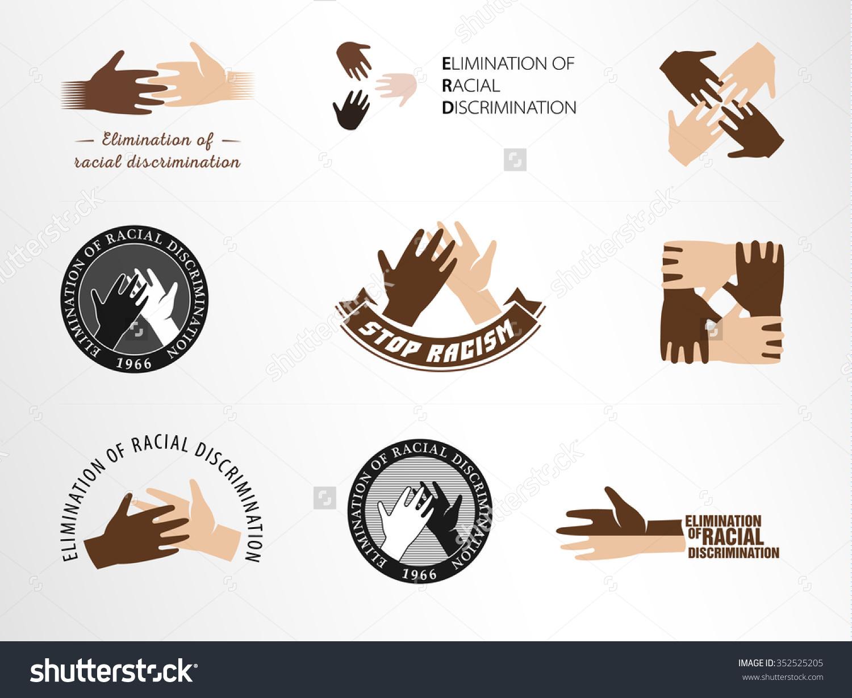 Race Discrimination Clip Art.