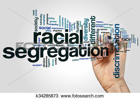 Stock Photo of Racial segregation word cloud k34285873.