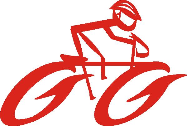 Cyclist On Bike Clip Art at Clker.com.