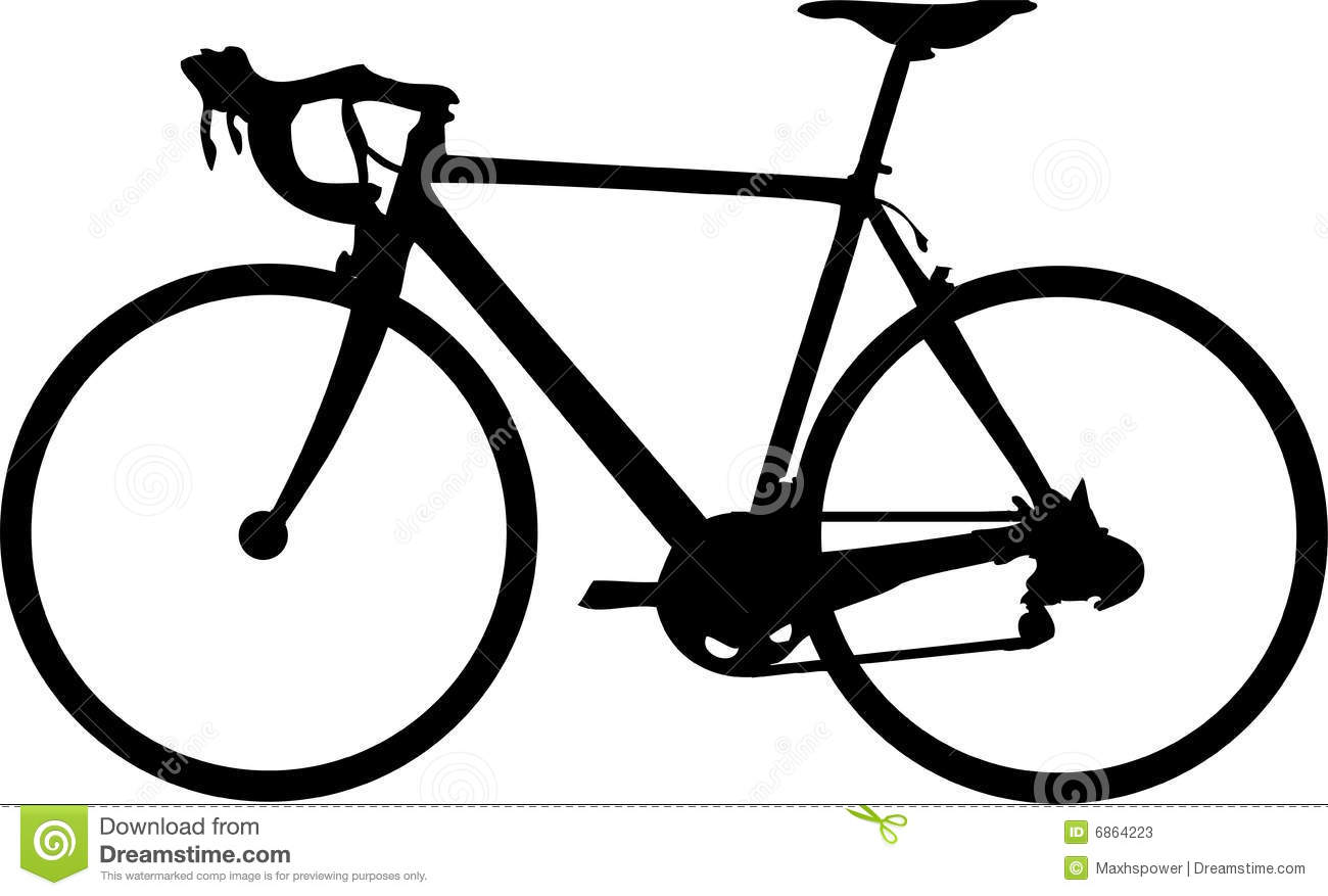 Road bike clip art.