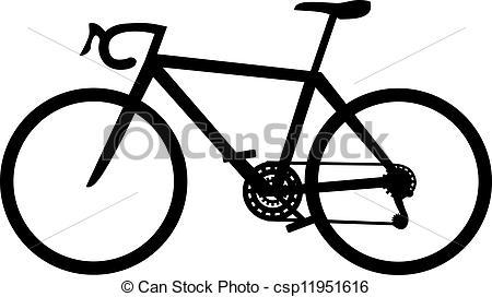 Vector Clip Art of Bike racing.