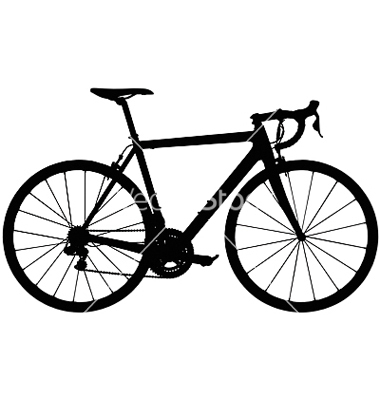 Road Bike Silhouette Clipart.