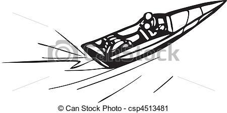 Race Boats Clipart.