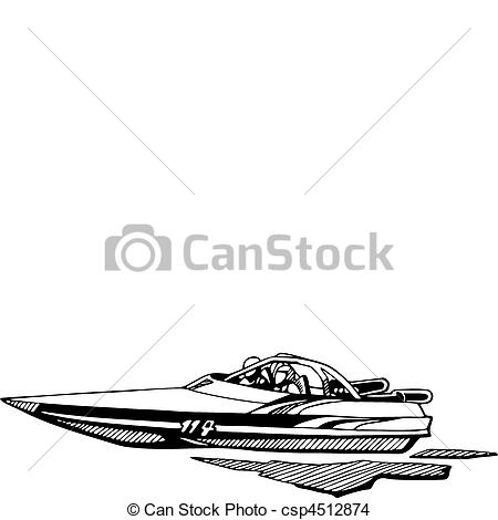 EPS Vector of auto and boat racing csp4512874.